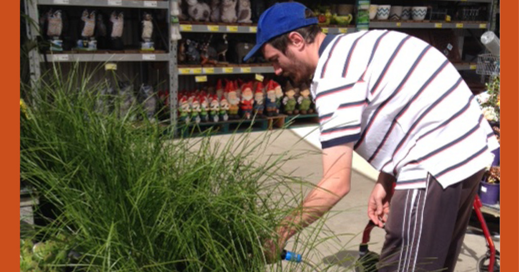 Benjamin Fenner is getting experience with gardening at Bunnings Warehouse in Tamworth
