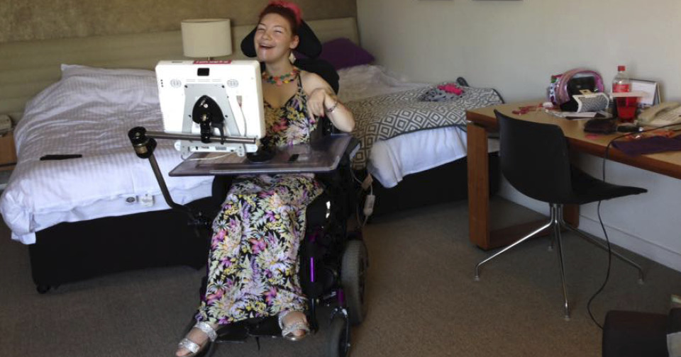 Sevinc MacCue in her hotel room in Cairns