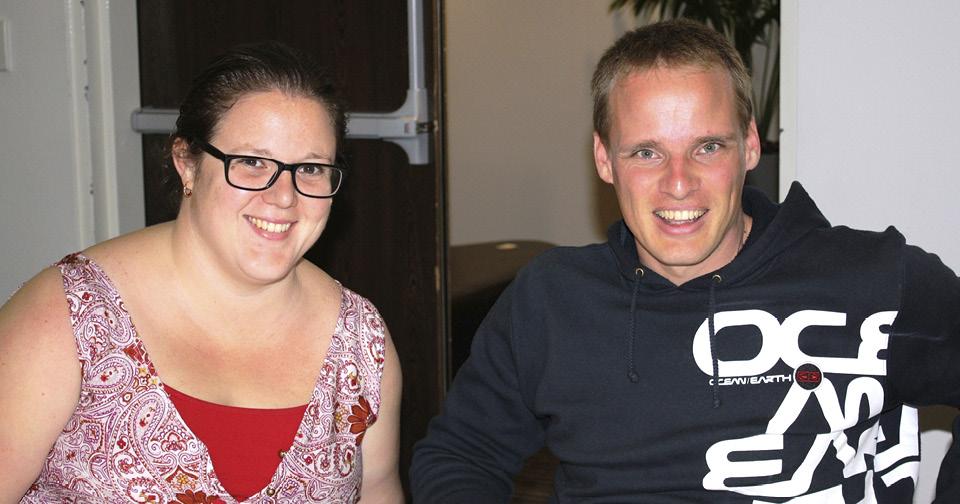 A woman and man having a fantastic time at the Northcott Spina Bifida Awareness Week comedy night