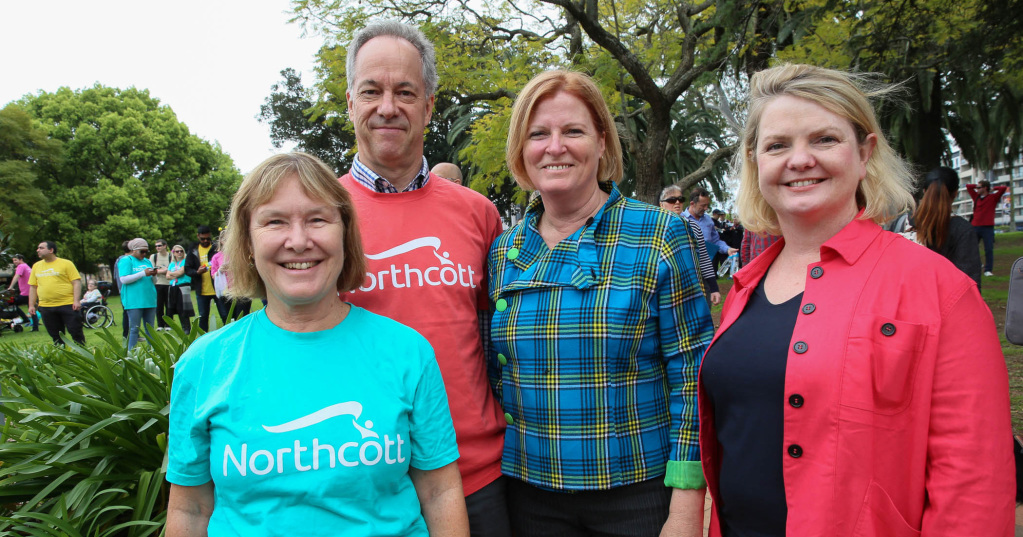 Northcott CEO Kerry Stubbs, Northcott Chairman Michael Briggs, Julie Owens MP and City of Parramatta Administrator Amanda Chadwick